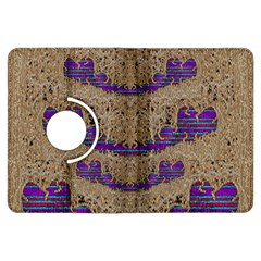 Pearl Lace And Smiles In Peacock Style Kindle Fire Hdx Flip 360 Case by pepitasart