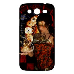 Steampunk, Beautiful Steampunk Lady With Clocks And Gears Samsung Galaxy Mega 5 8 I9152 Hardshell Case  by FantasyWorld7