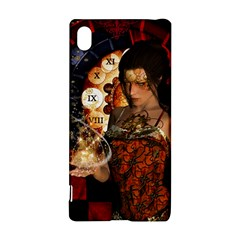 Steampunk, Beautiful Steampunk Lady With Clocks And Gears Sony Xperia Z3+ by FantasyWorld7