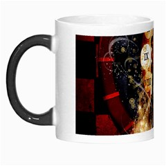 Steampunk, Beautiful Steampunk Lady With Clocks And Gears Morph Mugs by FantasyWorld7