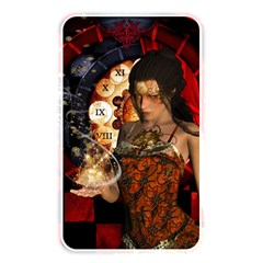 Steampunk, Beautiful Steampunk Lady With Clocks And Gears Memory Card Reader by FantasyWorld7