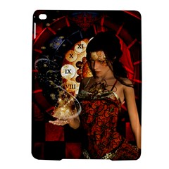 Steampunk, Beautiful Steampunk Lady With Clocks And Gears Ipad Air 2 Hardshell Cases by FantasyWorld7