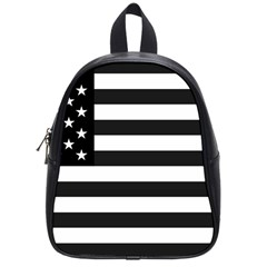 Flag Of Usa Black School Bag (small) by amphoto
