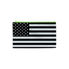 Flag Of Usa Black Cosmetic Bag (xs) by amphoto