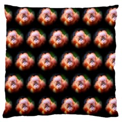 Cute Animal Drops  Baby Orang Large Flano Cushion Case (two Sides)