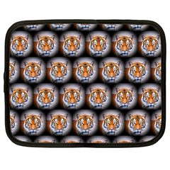 Cute Animal Drops   Tiger Netbook Case (large) by MoreColorsinLife