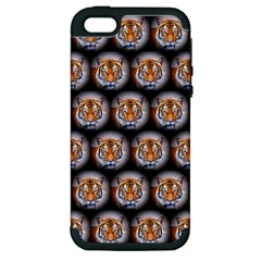 Cute Animal Drops   Tiger Apple Iphone 5 Hardshell Case (pc+silicone) by MoreColorsinLife