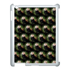 Cute Animal Drops   Red Panda Apple Ipad 3/4 Case (white) by MoreColorsinLife