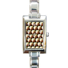 Cute Animal Drops   Wolf Rectangle Italian Charm Watch by MoreColorsinLife