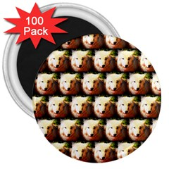 Cute Animal Drops   Wolf 3  Magnets (100 Pack) by MoreColorsinLife