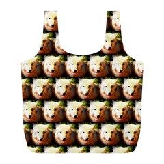 Cute Animal Drops   Wolf Full Print Recycle Bags (l)  by MoreColorsinLife