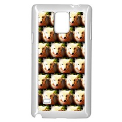 Cute Animal Drops   Wolf Samsung Galaxy Note 4 Case (white) by MoreColorsinLife