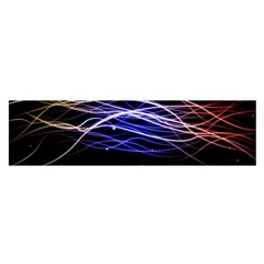 Abstraction Colorful Lines Dark  Satin Scarf (oblong) by amphoto