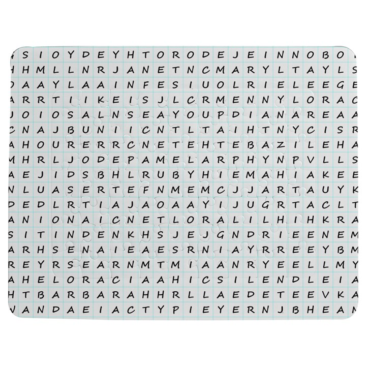 Word Search With Common Female Names Jigsaw Puzzle Photo Stand (Rectangular)