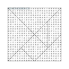 Word Search With Common Female Names Acrylic Tangram Puzzle (6  X 6 ) by DownUnderSearcher