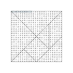 Word Search With Common Female Names Acrylic Tangram Puzzle (4  X 4 ) by DownUnderSearcher
