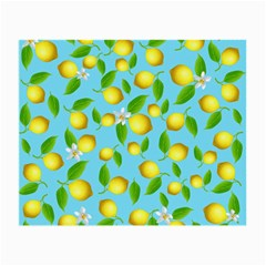 Lemon Pattern Small Glasses Cloth (2 Side) by Valentinaart