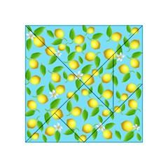 Lemon Pattern Acrylic Tangram Puzzle (4  X 4 ) by Valentinaart