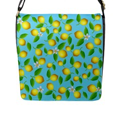 Lemon Pattern Flap Messenger Bag (l)  by Valentinaart