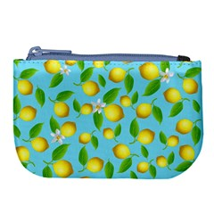 Lemon Pattern Large Coin Purse by Valentinaart