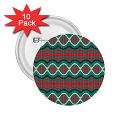 Ethnic Geometric Pattern 2 25  Buttons (10 Pack)  by linceazul