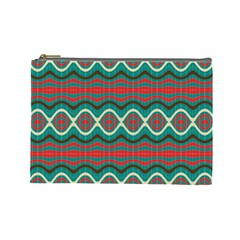 Ethnic Geometric Pattern Cosmetic Bag (large)  by linceazul