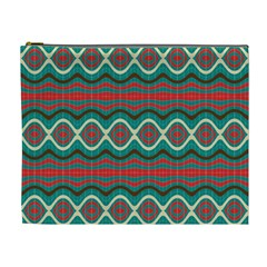 Ethnic Geometric Pattern Cosmetic Bag (xl) by linceazul