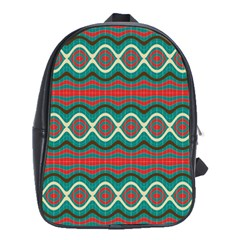 Ethnic Geometric Pattern School Bag (large) by linceazul