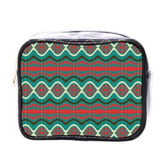 Ethnic Geometric Pattern Mini Toiletries Bags by linceazul
