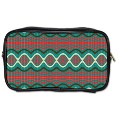 Ethnic Geometric Pattern Toiletries Bags 2 Side by linceazul