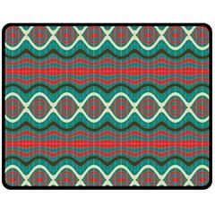 Ethnic Geometric Pattern Fleece Blanket (medium)  by linceazul