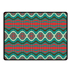 Ethnic Geometric Pattern Fleece Blanket (small) by linceazul