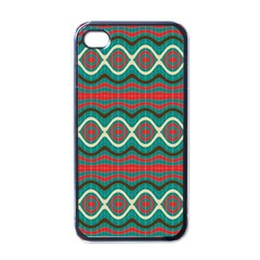 Ethnic Geometric Pattern Apple Iphone 4 Case (black) by linceazul