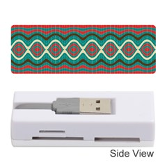 Ethnic Geometric Pattern Memory Card Reader (stick)  by linceazul