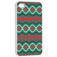 Ethnic Geometric Pattern Apple Iphone 4/4s Seamless Case (white) by linceazul