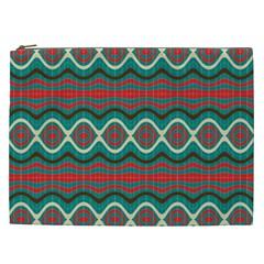 Ethnic Geometric Pattern Cosmetic Bag (xxl)  by linceazul