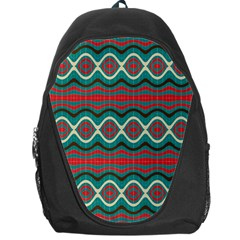 Ethnic Geometric Pattern Backpack Bag by linceazul