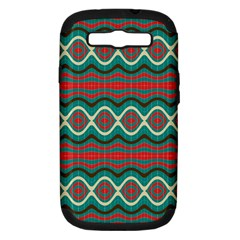 Ethnic Geometric Pattern Samsung Galaxy S Iii Hardshell Case (pc+silicone) by linceazul