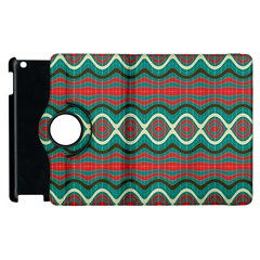 Ethnic Geometric Pattern Apple Ipad 2 Flip 360 Case by linceazul