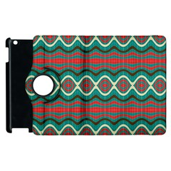 Ethnic Geometric Pattern Apple Ipad 3/4 Flip 360 Case by linceazul