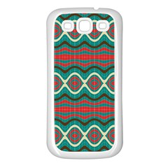 Ethnic Geometric Pattern Samsung Galaxy S3 Back Case (white) by linceazul