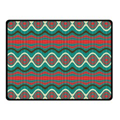Ethnic Geometric Pattern Double Sided Fleece Blanket (small)  by linceazul
