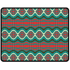 Ethnic Geometric Pattern Double Sided Fleece Blanket (medium)  by linceazul