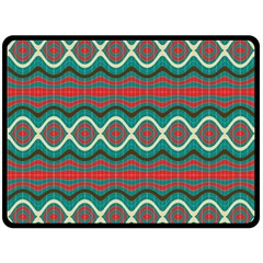 Ethnic Geometric Pattern Double Sided Fleece Blanket (large)  by linceazul
