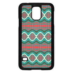 Ethnic Geometric Pattern Samsung Galaxy S5 Case (black) by linceazul