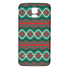 Ethnic Geometric Pattern Samsung Galaxy S5 Back Case (white) by linceazul