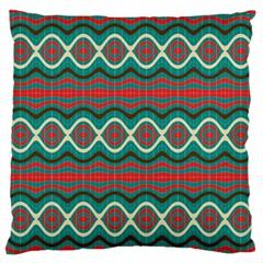 Ethnic Geometric Pattern Standard Flano Cushion Case (one Side) by linceazul