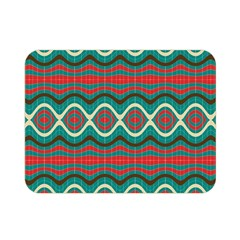 Ethnic Geometric Pattern Double Sided Flano Blanket (mini)  by linceazul