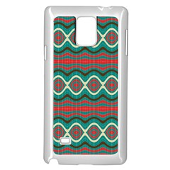 Ethnic Geometric Pattern Samsung Galaxy Note 4 Case (white) by linceazul