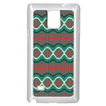 Ethnic Geometric Pattern Samsung Galaxy Note 4 Case (White) Front
